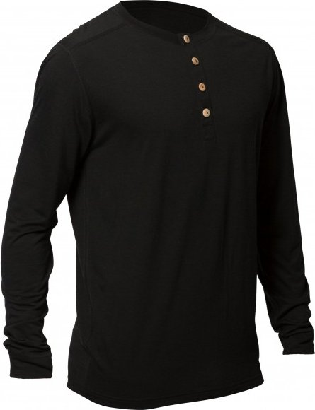 Northern Playground - Longsleeve Organic Wool and Silk - Merinounterwäsche Gr L schwarz