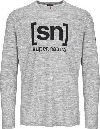 SuperNatural - Essential I.D. L/S - Merinounterwäsche Gr M grau