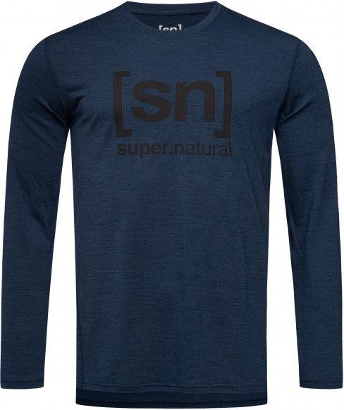 SuperNatural - Essential I.D. L/S - Merinounterwäsche Gr XL blau/schwarz