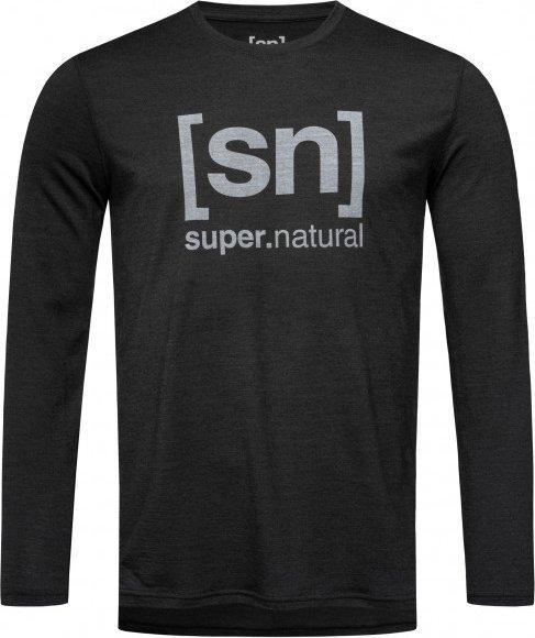 SuperNatural - Essential I.D. L/S - Merinounterwäsche Gr S schwarz