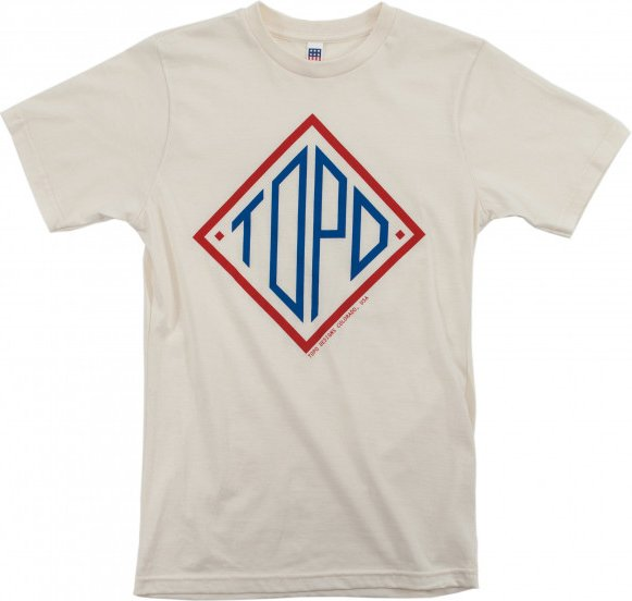 Topo Designs - Diamond Tee - T-Shirt Gr M weiß/grau