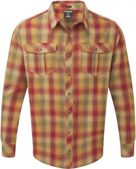 Sherpa - Indra Shirt - Hemd Gr M braun/beige/rot