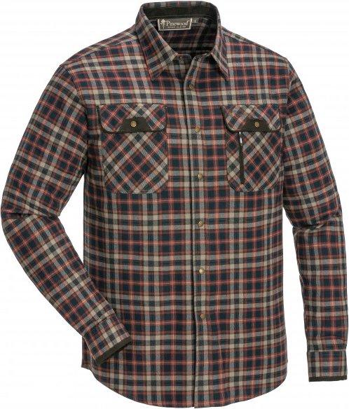 Pinewood - Prestwick Hemd - Hemd Gr 5XL schwarz/braun/grau