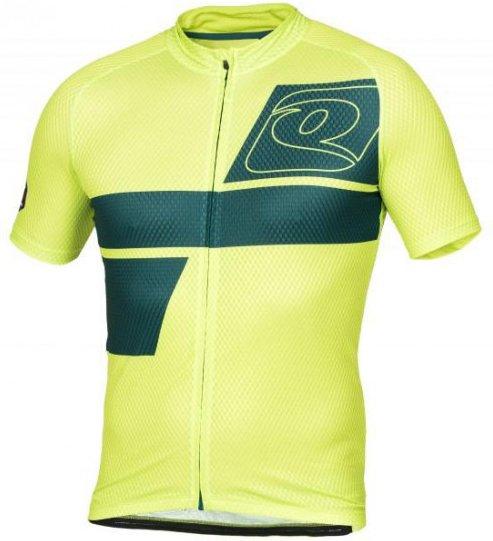 Qloom - Lennox Head Jersey S/S - Radtrikot Gr S grün/gelb