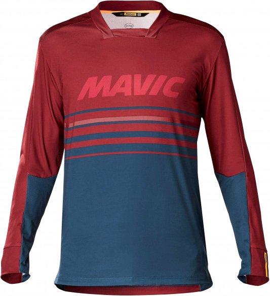 Mavic - Deemax Pro L/S Jersey - Radtrikot Gr L rot/blau