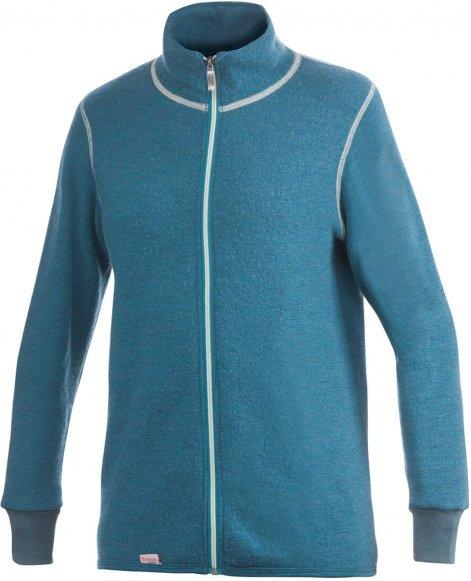 Woolpower - Full Zip Jacket 400 Color Collection - Wolljacke Gr L blau