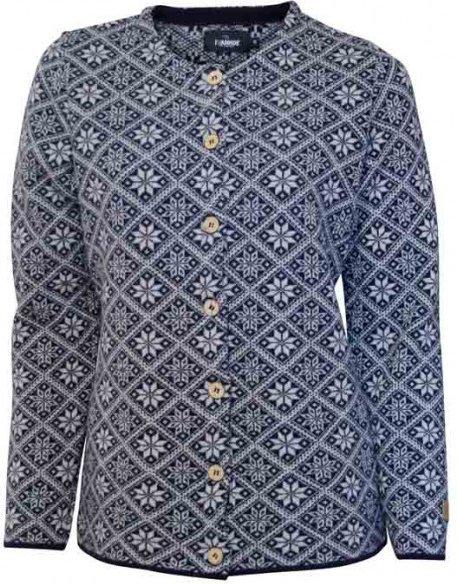 Ivanhoe of Sweden - Women's Elsie Cardigan Gr 36 grau/blau/schwarz