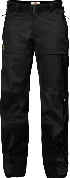 Fjällräven - Women's Keb Eco-Shell Trousers - Regenhose Gr L - Regular - Fixed Length schwarz