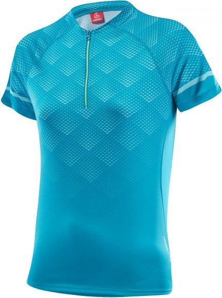 Löffler - Women's Bike Shirt Jessy Halfzip - Radtrikot Gr 34 türkis/blau