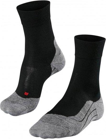 Falke - RU 4 Wool - Laufsocken Gr 46-48 schwarz/grau