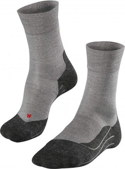 Falke - RU 4 Wool - Laufsocken Gr 44-45 grau/schwarz