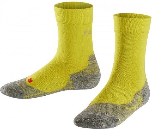 Falke - Falke RU4 Kids - Laufsocken Gr 27-30 gelb/grau