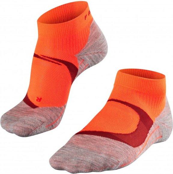 Falke - Women's Ru4 Cool Short - Laufsocken Gr 37-38 rot/grau/orange
