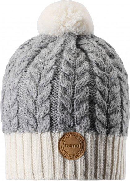 Reima - Kid's Pohjola - Mütze Gr 56 grau/weiß