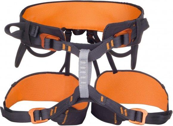 Edelweiss - Sitzgurt Dart - Klettergurt Gr 1 - 69-89 cm orange/schwarz