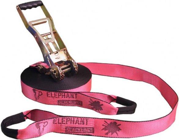 Elephant Slacklines - Addict Flash'line 25m Set - Slackline Gr 25 m rosa
