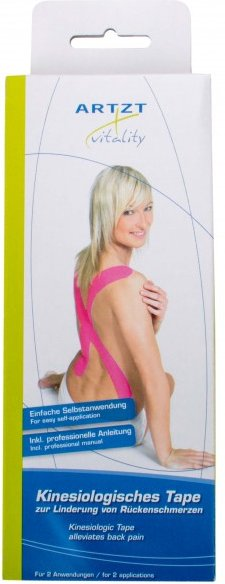 ARTZT vitality - Kinesiologisches Tape Precut - Tape für Brustwirbelsäule/Rücken