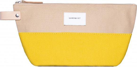Sandqvist - Cleo - Kulturbeutel Gr 3 l orange/beige