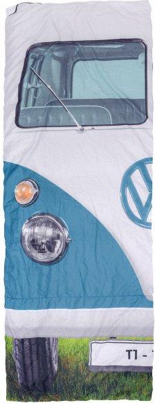 VW Collection - VW T1 Bus Einzelschlafsack - Kunstfaserschlafsack Gr 180 x 75 cm blau