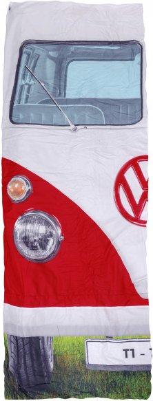 VW Collection - VW T1 Bus Einzelschlafsack - Kunstfaserschlafsack Gr 180 x 75 cm rot
