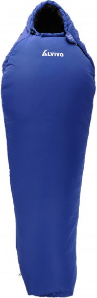 Alvivo - Mount Everest 210/230 - Kunstfaserschlafsack Gr 230x85 cm blau/grau