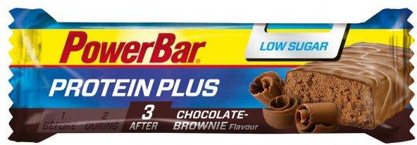 PowerBar - ProteinPlus Low Sugar Chocolate Brownie - Recoveryriegel Gr 35 g braun