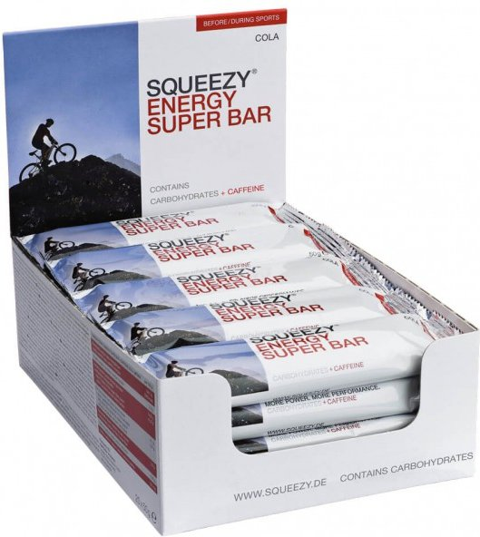 Squeezy - Energy Super Bar Cola+Koffein – Energieriegel