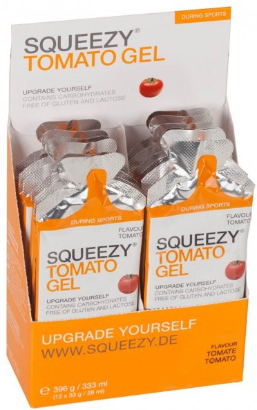 Squeezy - Tomato Gel Tomate - Energiegel Gr 12 x 33 g