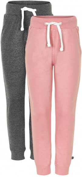 Minymo - Kid's Basic 37 Sweat Pants (2-Pack) - Trainingshose Gr 116 beige/rosa/grau/schwarz