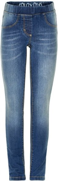Minymo - Kid's Basic 37 Molly Leggings - Jeans Gr 128 blau/grau
