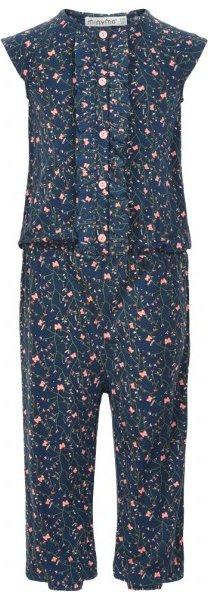 Minymo - Kid's Jumpsuit S/S With AOP Girl - Jumpsuit Gr 86 schwarz/blau/grau