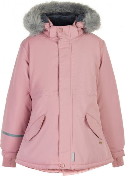 Minymo - Girl's Snow Jacket Tussor Solid - Winterjacke Gr 110 rosa/grau/beige