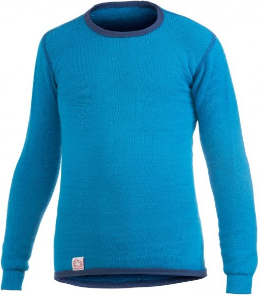 Woolpower - Kids Crewneck 200 - Merinounterwäsche Gr 122/128 - Years 7/8 blau