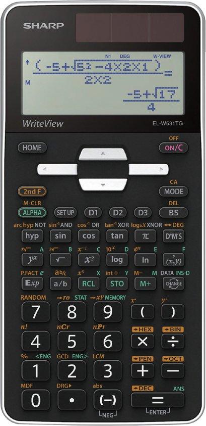 SHARP Schulrechner EL-W531 TG, Farbe: schwarz / weiß