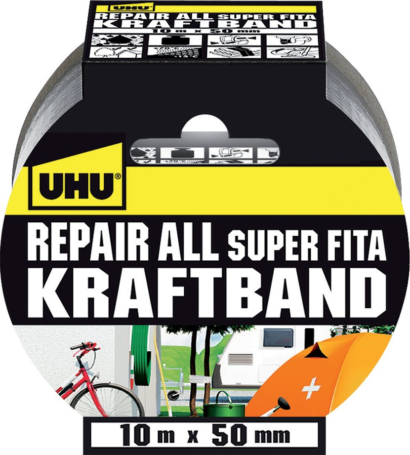 UHU Kraftband Repair all, (B)50 mm x (L)10 m, silber