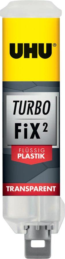 UHU 2-Komponenten-Klebstoff Turbo Fix Füssig Plastik, 10 g