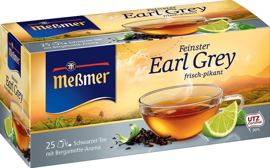 Meßmer Schwarzer Tee , Earl Grey, , 25er Packung