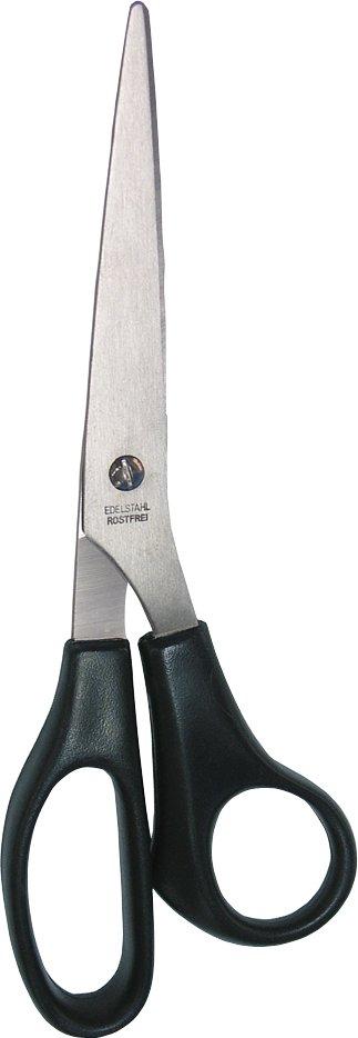 WEDO Edelstahl-Univeralschere, spitz, Länge: 210 mm, schwarz