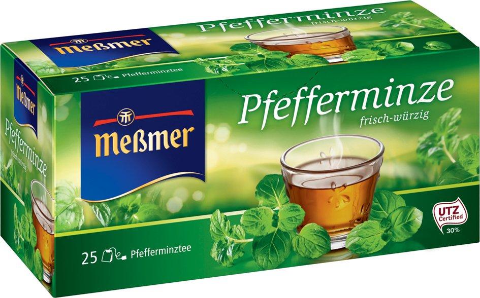 Meßmer Tee , Pfefferminze, , frisch-würzig, 25er Packung