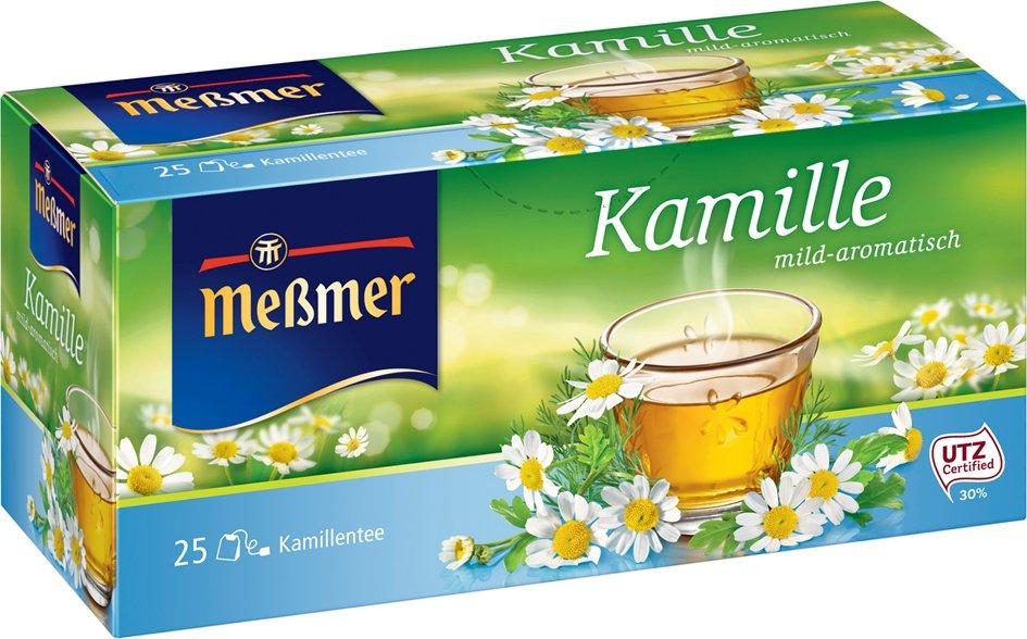 Meßmer Tee , Kamille, , mild-aromatisch, 25er Packung