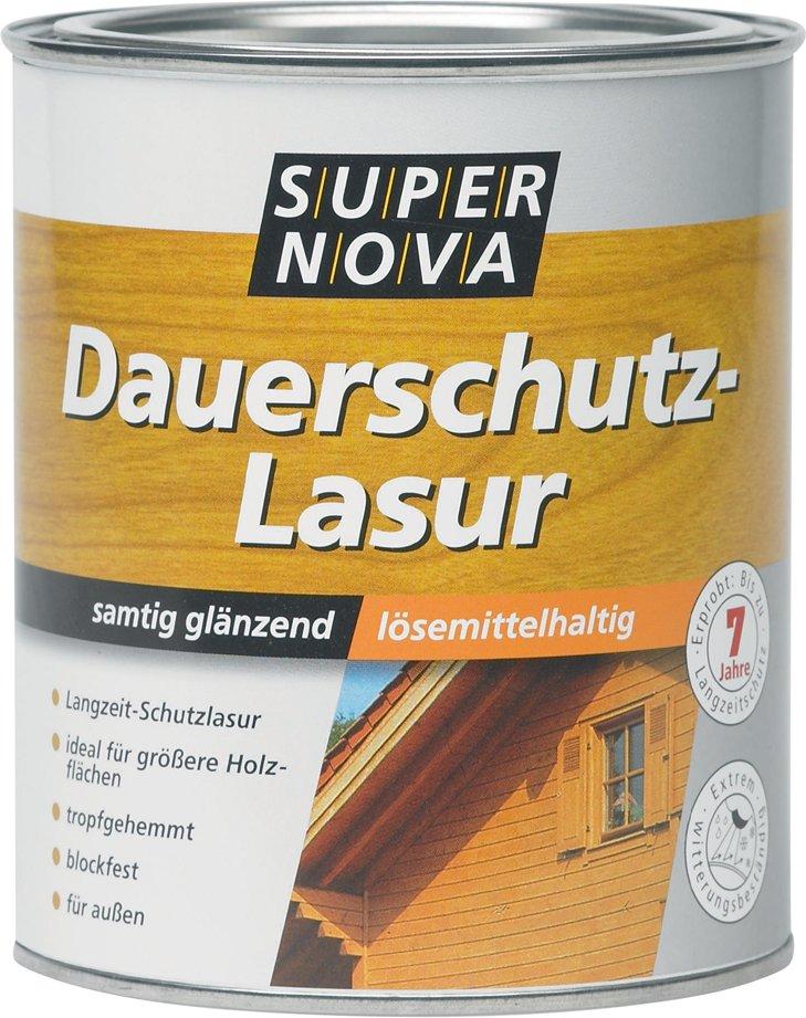 SUPER NOVA Dauerschutz-Lasur, teak, 2,5 Liter