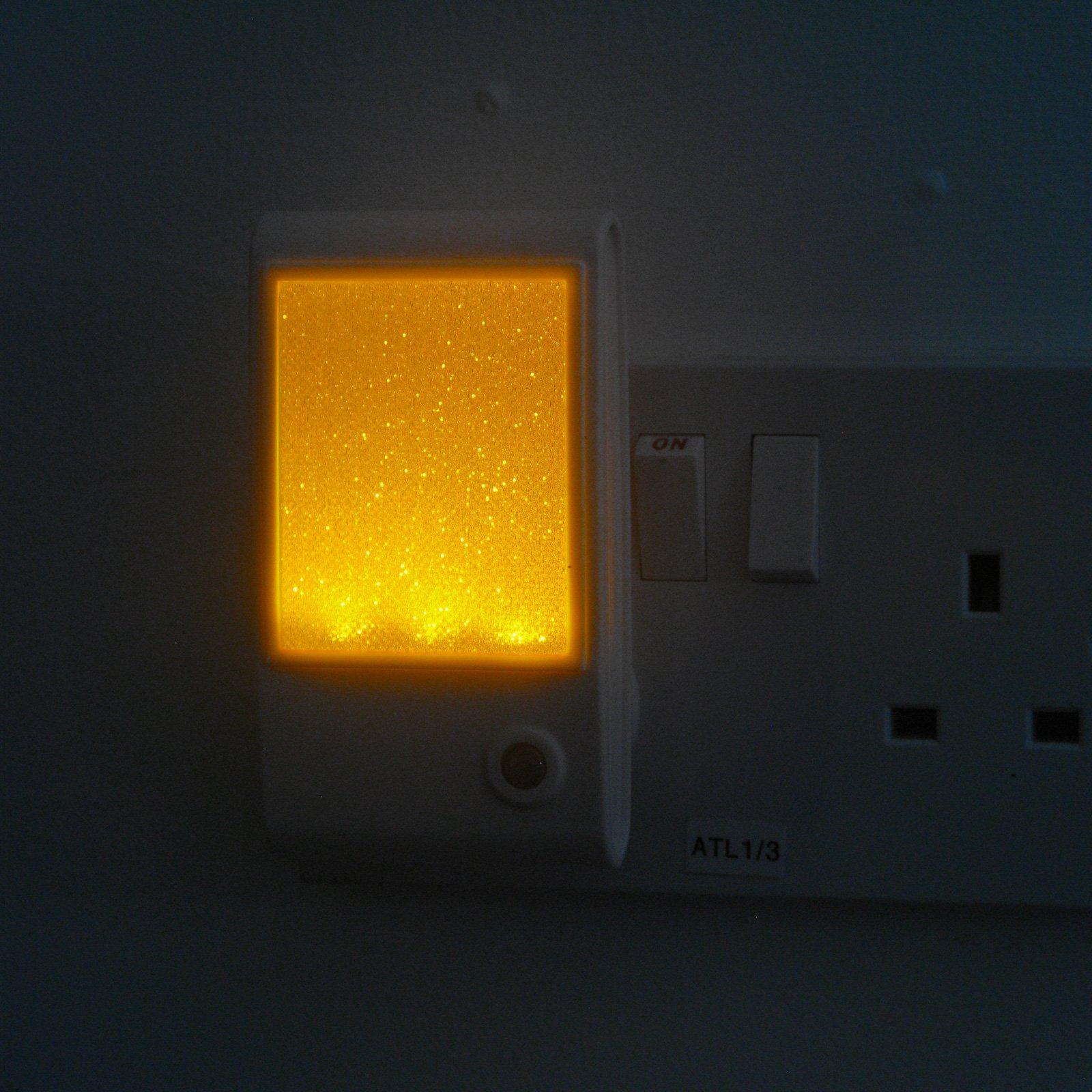 Amber Sparkle LED Sensor Night Light