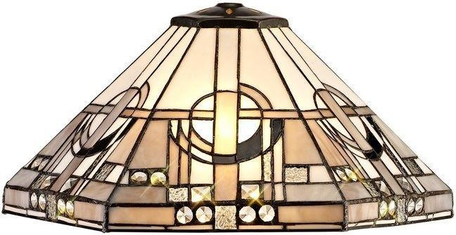 Glasgow Non Electric Ceiling Shade In Grey  White And Black   Dia  400mm