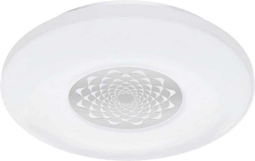 Eglo 96821 Capasso C LED Ceiling And Wall Light In White And Chrome With Pattern