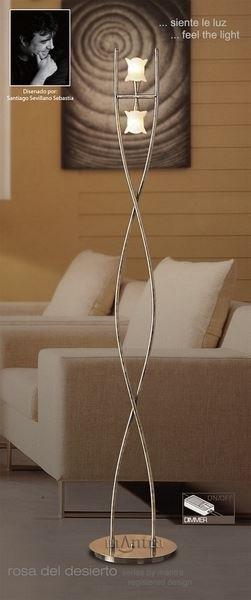 M0054AB Rosa Del Desierto 2 Lt Antique Brass Floor Lamp