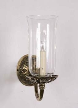 730G Empire 1 Light Brass Wall Light With Glass Shade