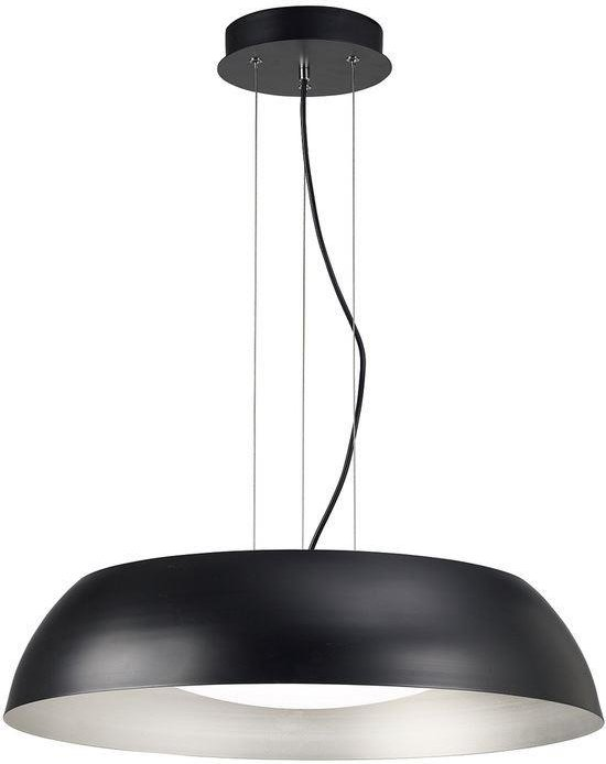 Mantra M4843E Argenta Large 5 Light Ceiling Pendant In Black  White And Silver   Dia  600mm