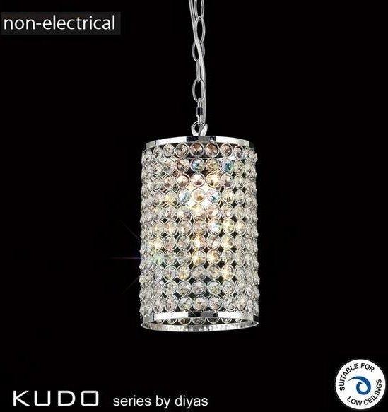 IL60002 Kudo Chrome And Crystal Non Electric Pendant