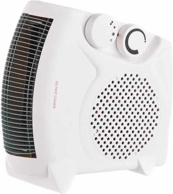 Flat and Upright Fan Heater 2000W  White