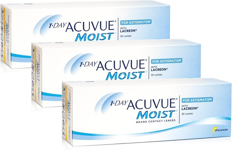 1-DAY Acuvue Moist for Astigmatism, 90er Pack